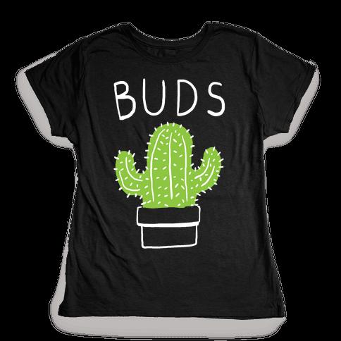 Best Buds Cactus Womens T-Shirt