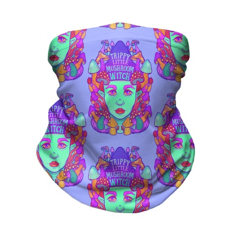 Trippy Little Mushroom Witch Neck Gaiter