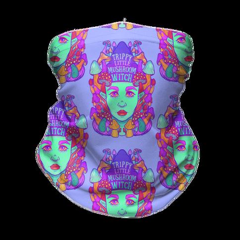 Trippy Little Mushroom Witch Neck Gaiter