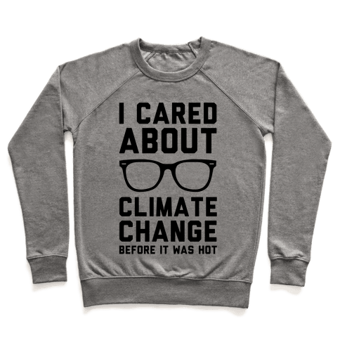I Cared About Climate Change Pullover