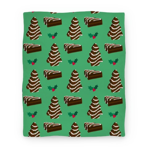 Holiday Tree Cake Pattern (Chocolate) Blanket