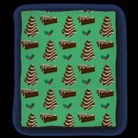 Holiday Tree Cake Pattern (Chocolate) Blanket