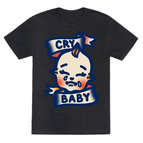 Cry Baby White Print T-Shirt