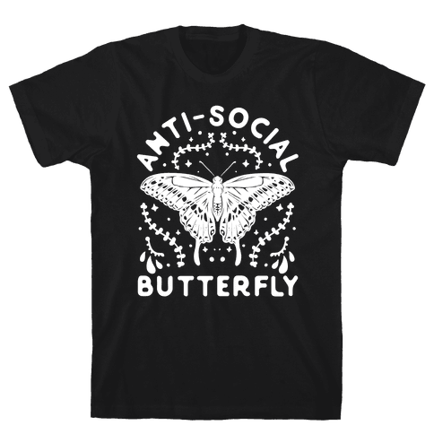 Anti-Social Butterfly Mens/Unisex T-Shirt