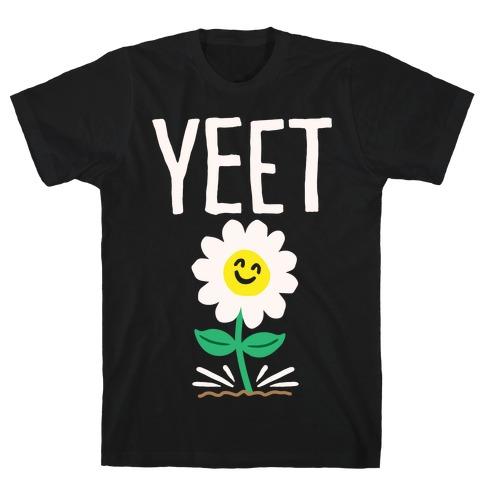 Yeet Flower Parody White Print T-Shirt