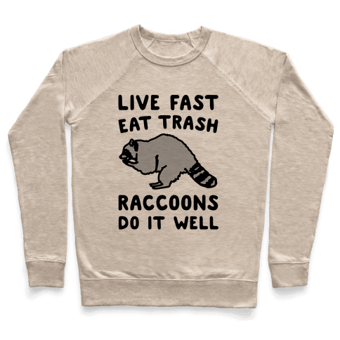 Live Fast Eat Trash Raccoons Do It Well Parody Pullover