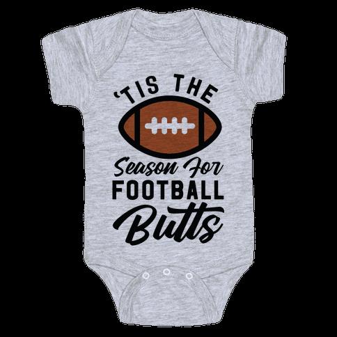 'Tis the Season for Football Butts Baby Onesy
