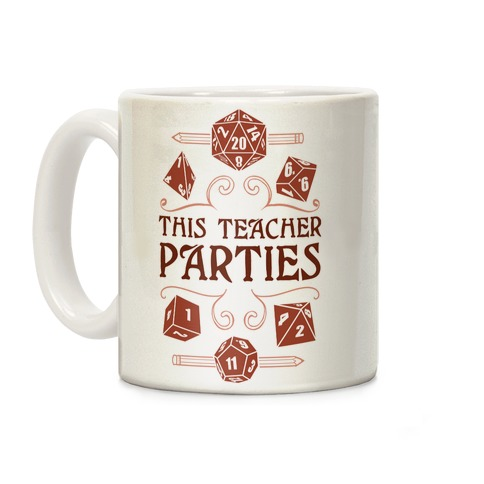 This Teacher Parties Coffee Mug