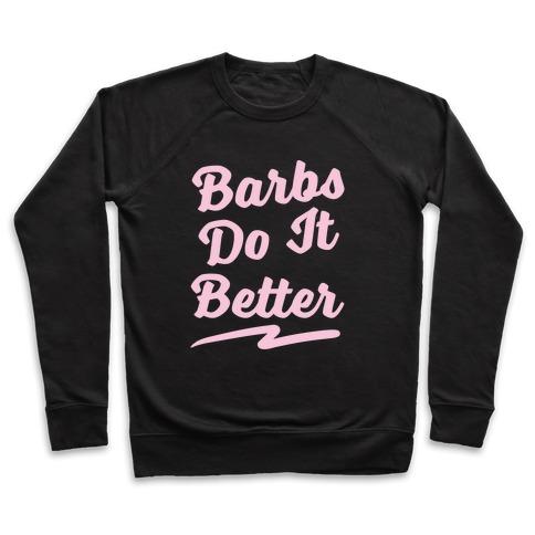 Barbs Do It Better White Print Pullover
