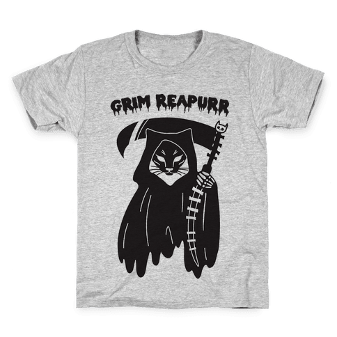 Grim Reapurr Cat Kids T-Shirt