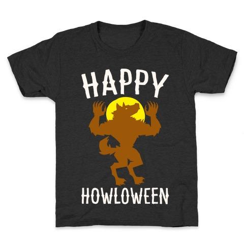 Happy Howloween Werewolf Parody White Print Kids T-Shirt