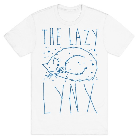 The Lazy Lynx Cat Constellation Parody T-Shirt