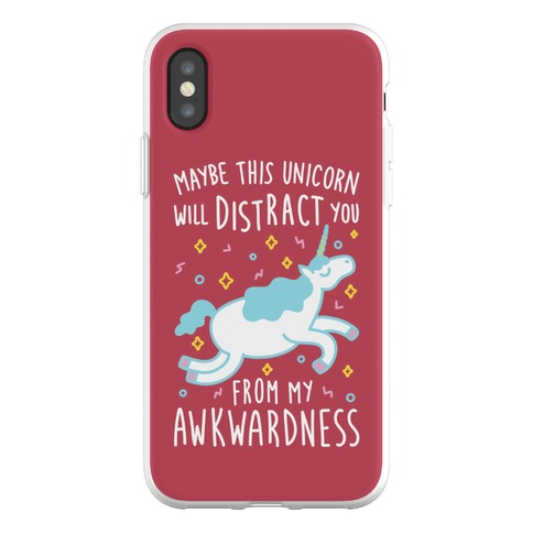 Maybe This Unicorn Will Distract You Phone Flexi-Case