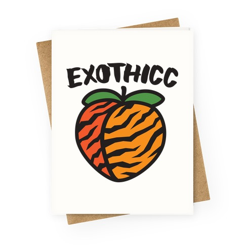 Exothicc Tiger Peach Greeting Card