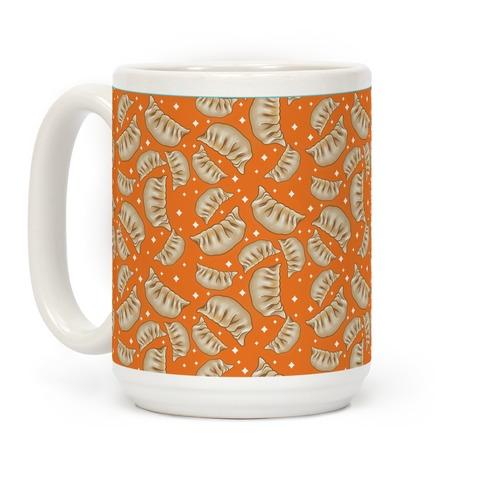 Dumplings Pattern Orange Coffee Mug