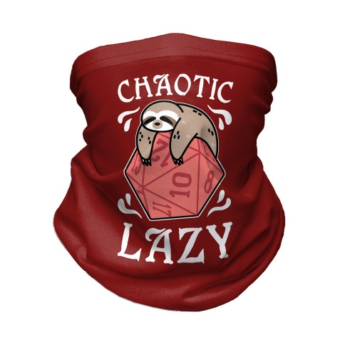 Chaotic Lazy Neck Gaiter