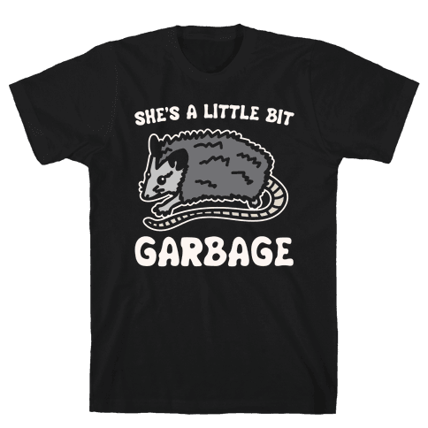 I'm A Little Bit Country She's A Little Bit Garbage Pairs Shirt White Print Mens T-Shirt