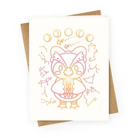 Celestial Astrology Owl Greeting Card