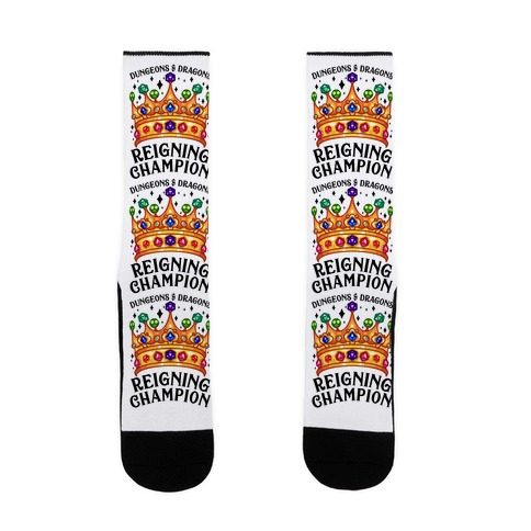 Dungeons & Dragons Reigning Champion Sock
