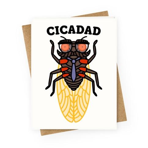CicaDad Dad Cicada Greeting Card