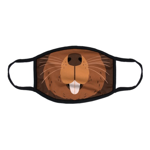 Beaver Mouth Flat Face Mask
