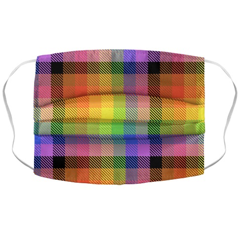 Pride Flag Plaid Accordion Face Mask