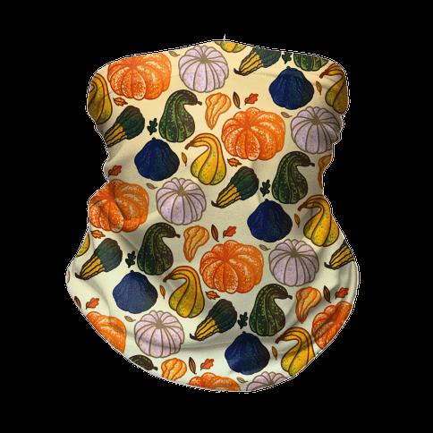 Autumn Gourds Pattern Neck Gaiter