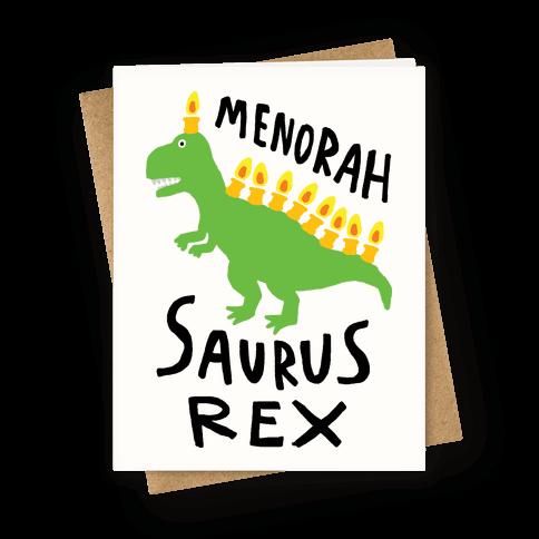 Menorah Saurus Rex  Greeting Card