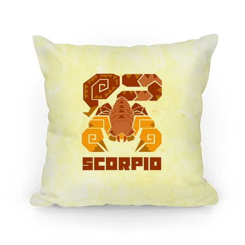 Monster Hunter Astrology Sign: Scorpio Pillow
