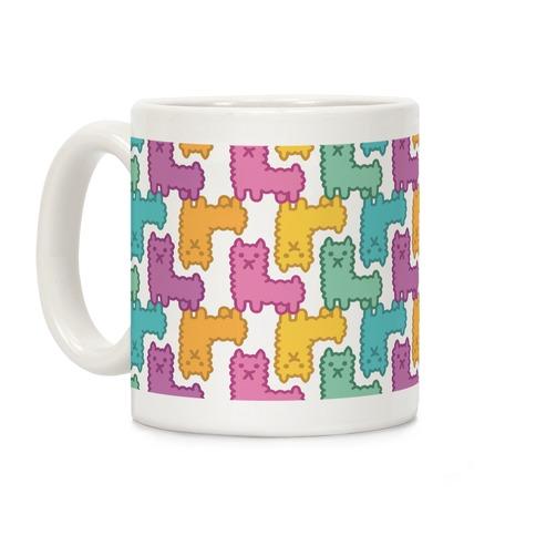 Pastel Llama Pattern Coffee Mug