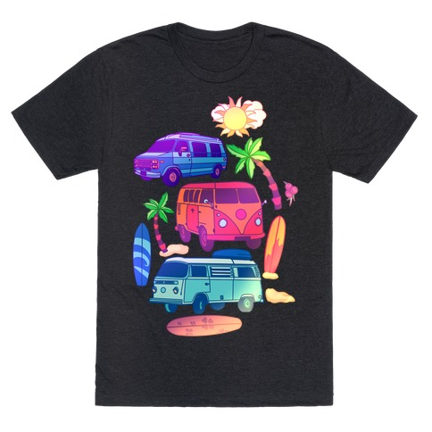 Beachy Van Life Pattern T-Shirt