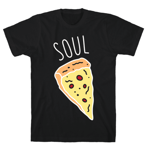 Soul Mates Pizza 1 (White) Mens T-Shirt