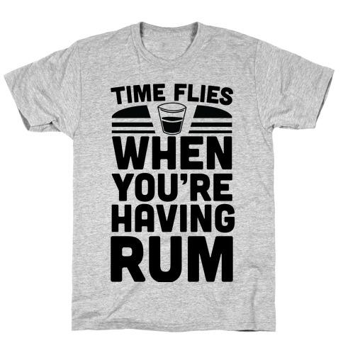 Time Flies When You're Having Rum T-Shirt