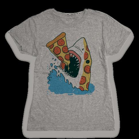 Pizza Shark Womens T-Shirt