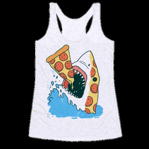 Pizza Shark Racerback Tank Top