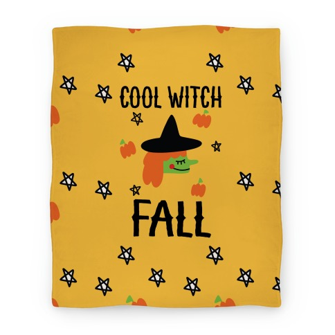 Cool Witch Fall Blanket