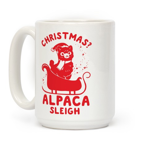 Christmas Alpaca Sleigh Coffee Mug