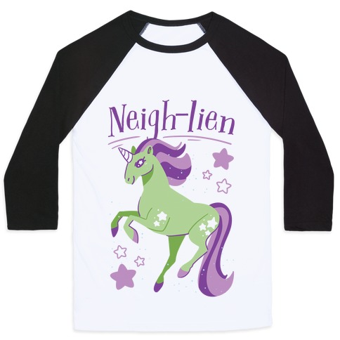 Neigh-lien Baseball Tee