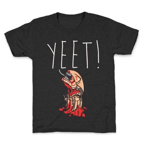 Yeet Alien Parody White Print Kids T-Shirt