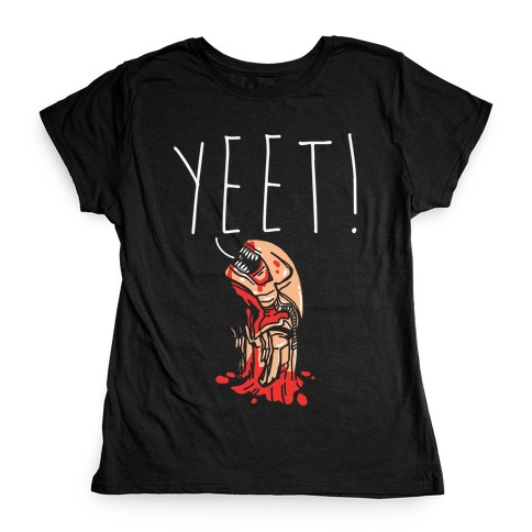 Yeet Alien Parody White Print Womens T-Shirt