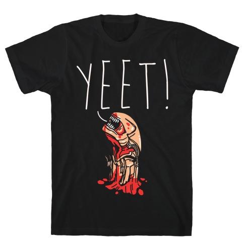 Yeet Alien Parody White Print T-Shirt