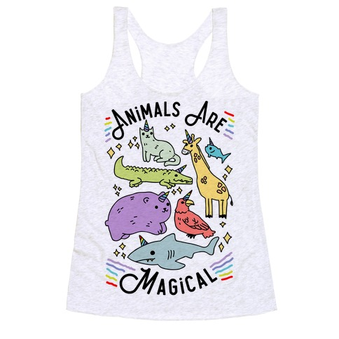 Animals Are Magical Racerback Tank Top