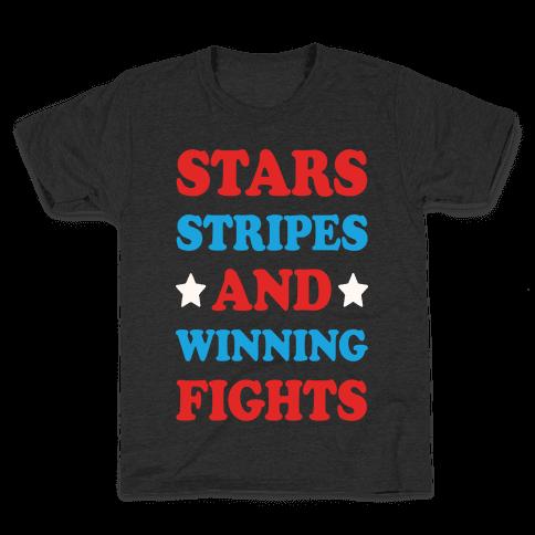 Stars Stripes And Winning Fights Kids T-Shirt