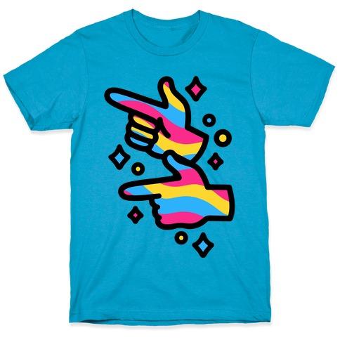 Pansexual Pride Finger Guns T-Shirt