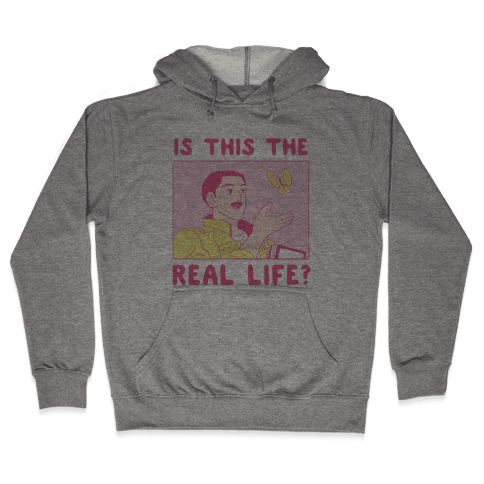 Is This the Real Life Hooded Sweatshirt