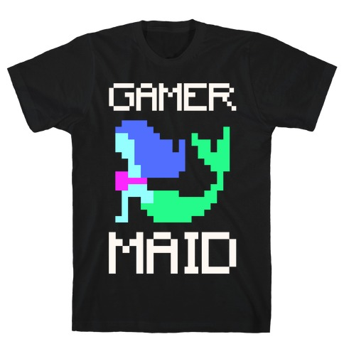 Gamer-Maid White Print T-Shirt