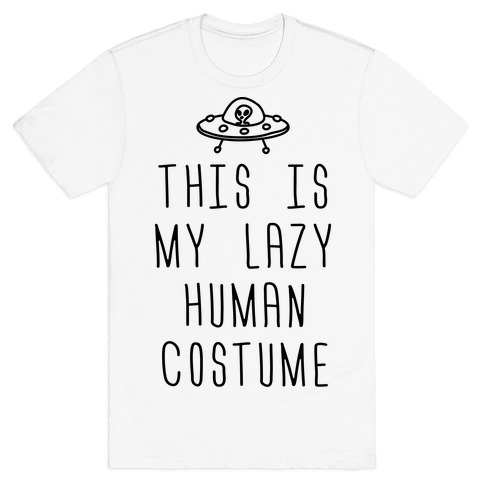 This Is My Lazy Human Costume Mens T-Shirt