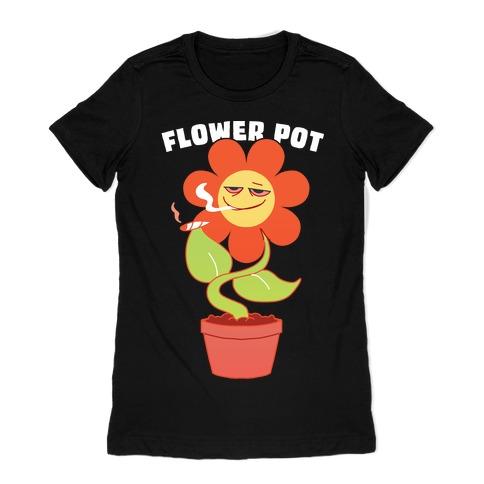 Flower pot Womens T-Shirt