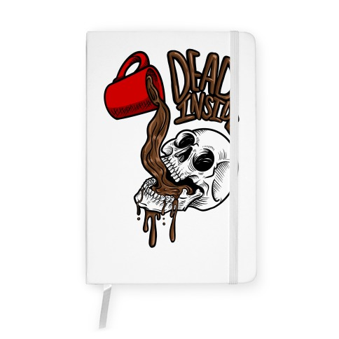 Dead Inside Skull & Coffee Notebook