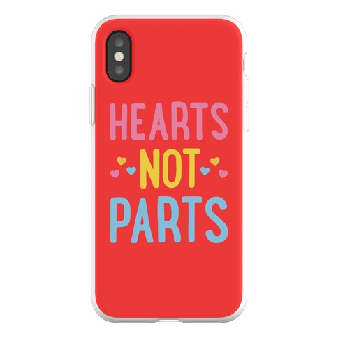 Hearts Not Parts (Pansexual) Phone Flexi-Case